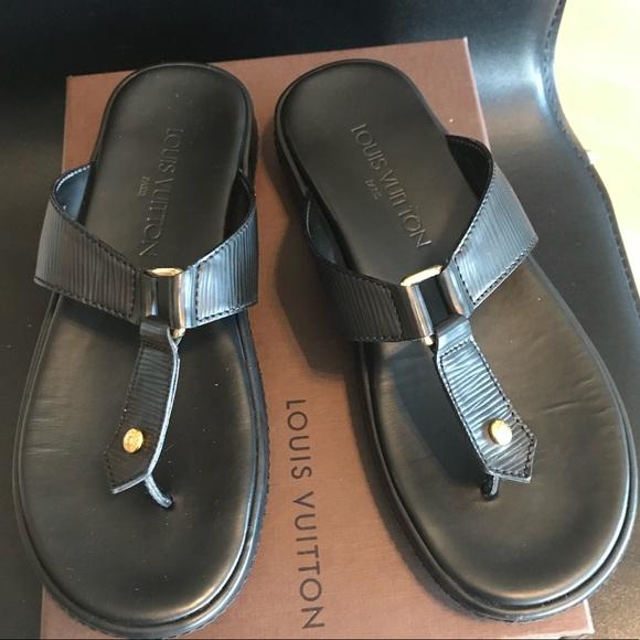 da65cba999bc Louis Vuitton Shoes - Louis Vuitton Thong Epi Leather Sandal